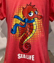 Load image into Gallery viewer, SEA LIFE Seahorse Kids V neck t-shirt Coral