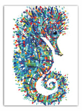 Load image into Gallery viewer, Tracey Keller Seahorse Greeting Card