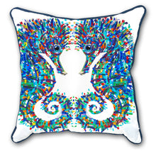 Load image into Gallery viewer, Tracey Keller Seahorses Cushion Cover