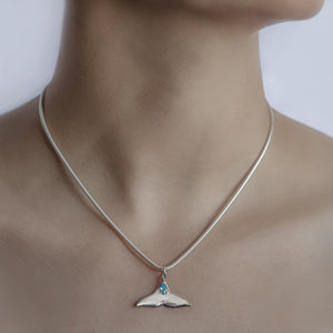 Angel of the Sea Whale Tail Necklace