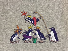 Load image into Gallery viewer, SEA LIFE Sydney Waddle of Penguins Ladies t-shirt Grey Marle