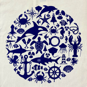 SEA LIFE Trust Montage Ladies t-shirt White