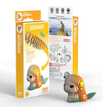 Load image into Gallery viewer, EUGY 3D Cardboard Model Kit Mermaid