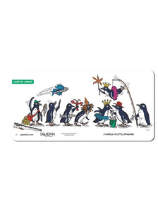 Waddle of Little Penguins Greeting Card