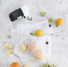 Load image into Gallery viewer, Ever Eco Reusable Produce Bags   Recycled Polyester Mesh 4 Pack