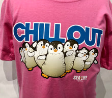 Load image into Gallery viewer, SEA LIFE Sydney Chill Out Penguin Kids t-shirt Pink