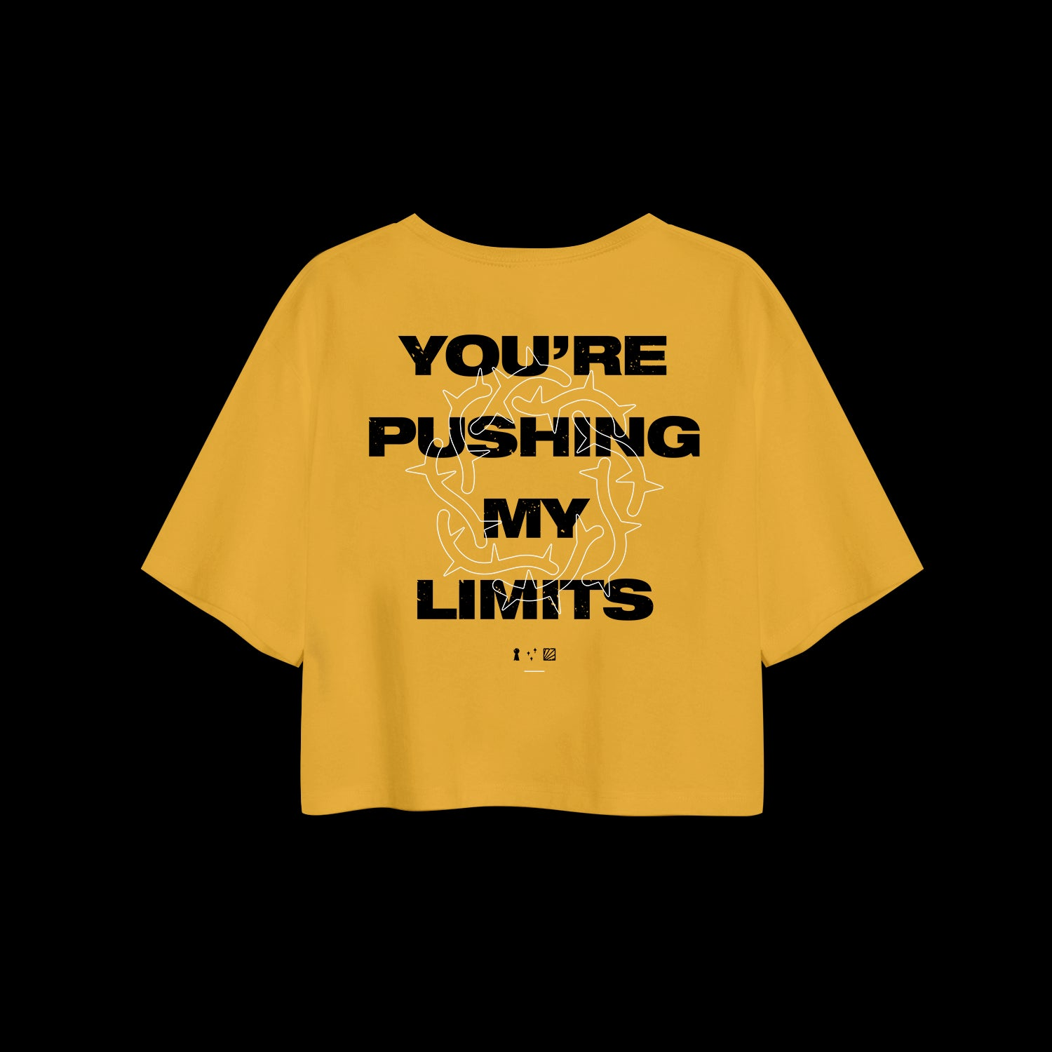 Limits Mustard Cropped Tee