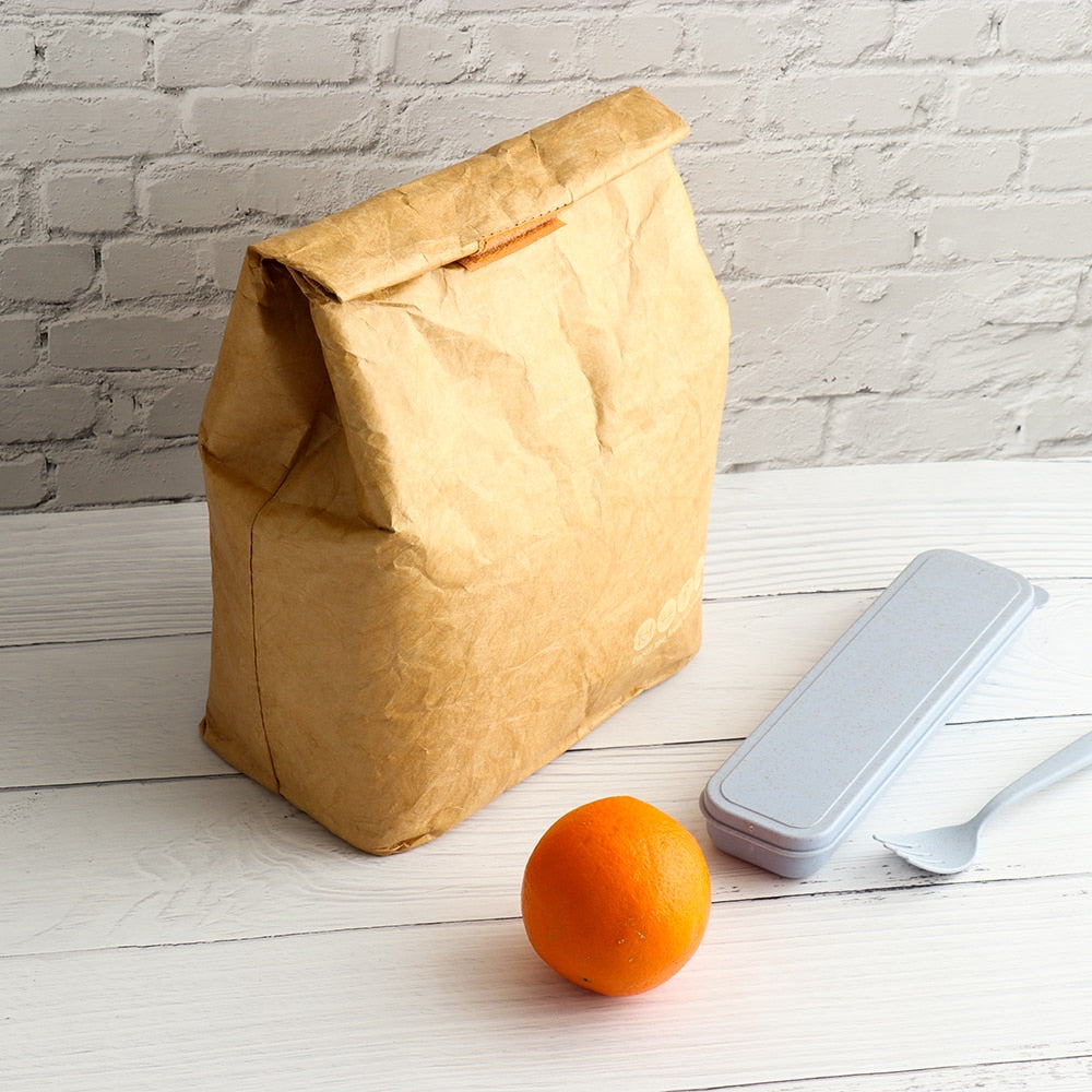 Eco-Friendly Lunch Bags™: Insulated Thermal Reusable Paper Lunch Bag