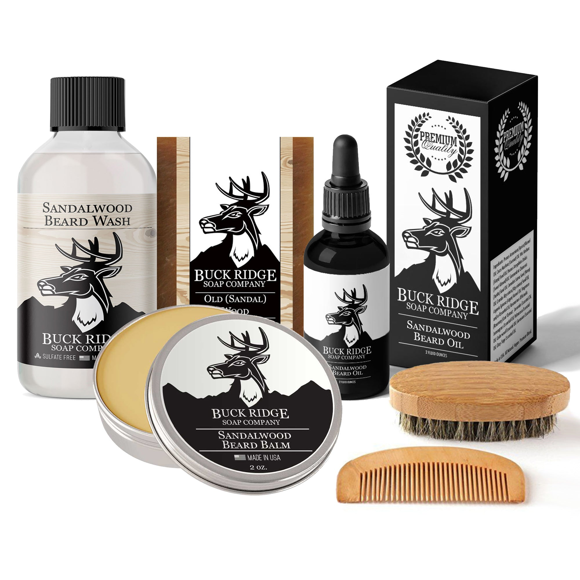 Buck Ridge Grooming & Trimming Set™: All Natural Beard and Body Care Gift Sets