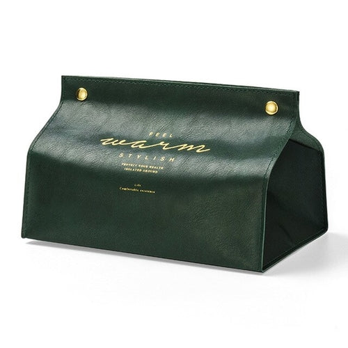 Luxury Leather Tissue Case