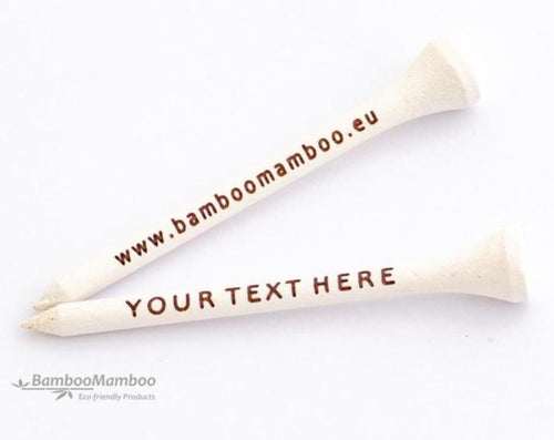 200 Eco-Friendly Bamboo Golf Tees - 70mm laser engraved with your name or text... - bamboomamboo europe