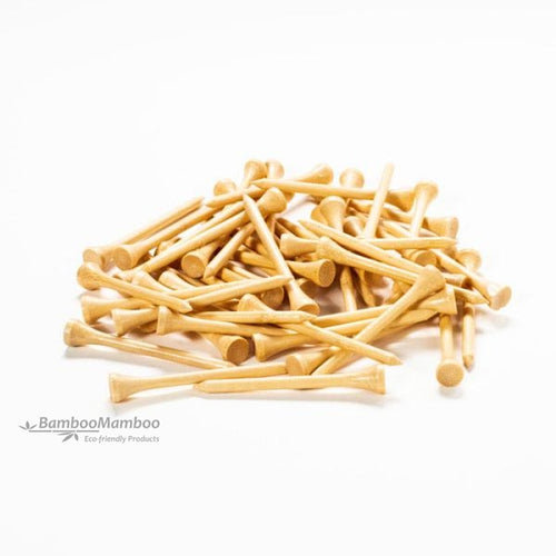 200pcs White or Natural Bamboo Golf Tees 70mm ( NO ENGRAVING ) 12.99 euro.. - bamboomamboo europe
