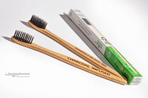3pc Eco-Friendly Bamboo Toothbrushes (3 pieces). - bamboomamboo europe
