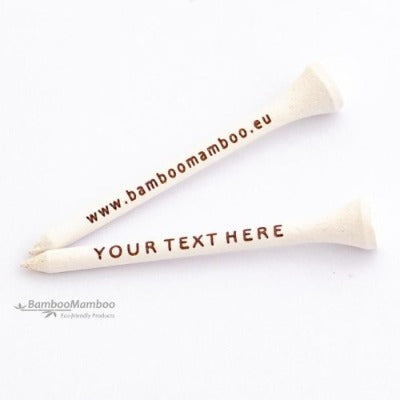 400 Eco-Friendly Bamboo Golf Tees 70mm  - laser engraved  with  your name or text.. - bamboomamboo europe