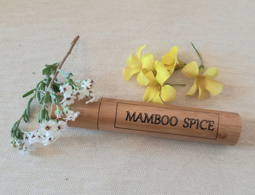 Mamboo Spice  eau de parfum  roll on in Bamboo container, 30ML - bamboomamboo europe