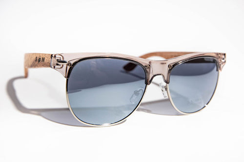 SALE  NOW ON !! REDUCED FROM 29.99  TO 21.99  WHILS STOCKS LAST  Zebra Wood  GOLF  or  BEACH  Sunglasses | Silver Lens Polarized UV400 | 1503  Personalised laser engraving on one arm (max 50 letters or numbers) - bamboomamboo europe