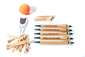 Combination, 200 bamboo tees, 1 pro Divot tool and 5 Bamboo pens, - bamboomamboo europe