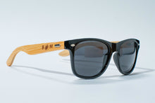 Carica l'immagine nel visualizzatore di Gallery, SALE NOW ON !  REDUCED TO 29.99 EUROS LUXURY Bamboo GOLF SKI or BEACH Sunglasses | Polarized UV400 | BLACK Lens - bamboomamboo europe