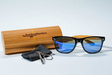 Carregar imagem no visualizador da galeria, SALE NOW ON. REDUCED TO 29.99 EUROS LUXURY Bamboo GOLF SKI  or  BEACH  Sunglasses | Polarized UV400 |  Blue Lens - bamboomamboo europe