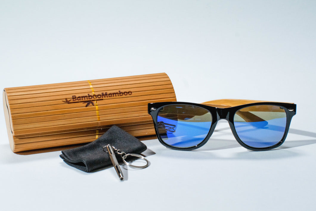SALE NOW ON. REDUCED TO 29.99 EUROS LUXURY Bamboo GOLF SKI  or  BEACH  Sunglasses | Polarized UV400 |  Blue Lens - bamboomamboo europe