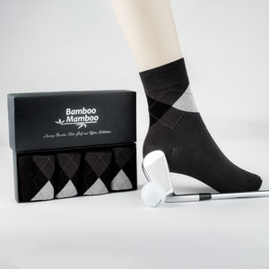 24.99 EUROS  REDUCED TO 19,99 EUROS Luxury Bamboo fibre  Golf and office  collection  socks  BLACK - bamboomamboo europe