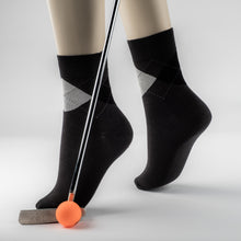 Laden Sie das Bild in den Galerie-Viewer, 24.99 EUROS  REDUCED TO 19,99 EUROS Luxury Bamboo fibre  Golf and office  collection  socks  BLACK - bamboomamboo europe