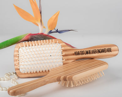 100% Natural Wooden Square Brushes for Hair with Bamboo Bristles, Wood Brush for Hair, Large Paddle Brush Bamboo  Detangling Vent Brush Bamboo Bristle, Bamboo Hair Brushes for Women - bamboomamboo europe
