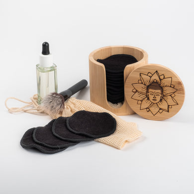 BUDDAH DESIGN   20 Bamboo mamboo black OR coloured  Bamboo/Cotton makeup remover pads - bamboomamboo europe