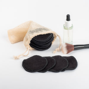FLOWER DESIGN   20 Bamboo mamboo Black or Coloured  Bamboo/Cotton makeup remover pads - bamboomamboo europe