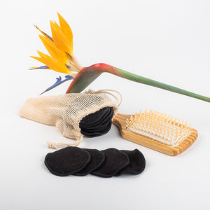 NEW FLOWER DESIGN   20 Bamboo mamboo black or coloured  Bamboo/Cotton makeup remover pads - bamboomamboo europe