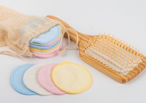 2 x 16   Reusable Makeup Remover Pads  bamboo / Cotton Pads  2 x mini laundry bags - bamboomamboo europe