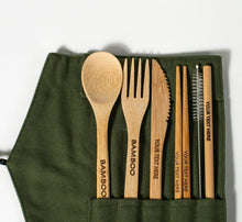 Load image into Gallery viewer, Eco-Friendly Bamboo Cutlery Set. - bamboomamboo europe