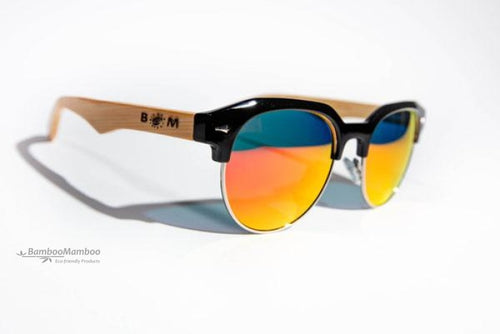 Bamboo GOLF  or  BEACH  Sunglasses | Polarized UV400 | 1205m-5 Orange Lens  Personalised laser engraving on one arm (max 50 letters or numbers) - bamboomamboo europe