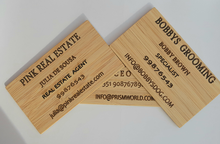 Cargar imagen en el visor de la galería, 100% ECO FRIENDLY  VIP BAMBOO BUSINESS CARDS  FOR YOUR SPECIAL CLIENTS - bamboomamboo europe