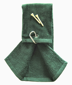 GREEN TERRY COTTON GOLF TOWEL  9.99 EURO   FREE SHIPPING - bamboomamboo europe