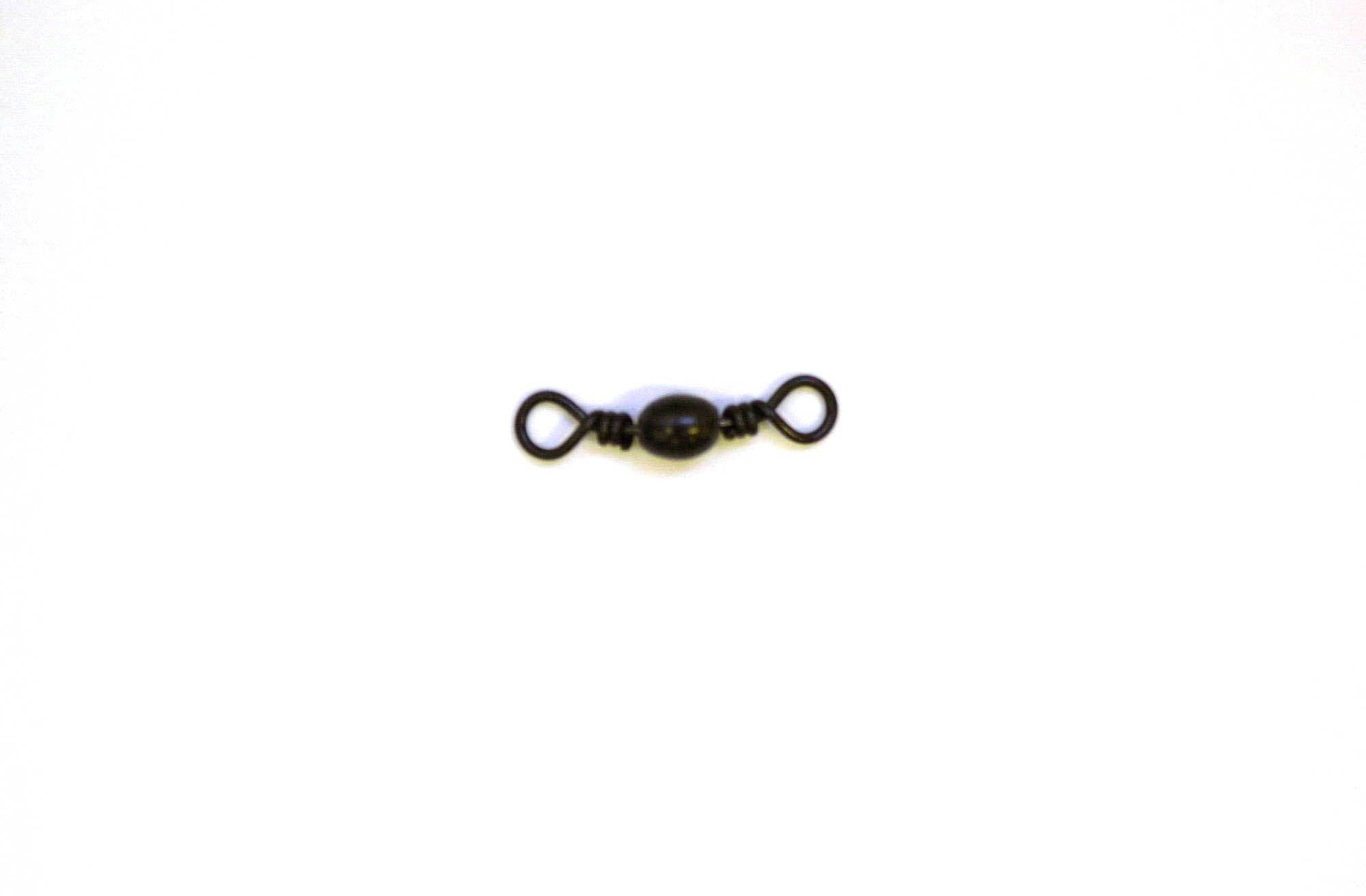 Eagle Claw Swivel-Black Barrel 12ct-12pk Size 1