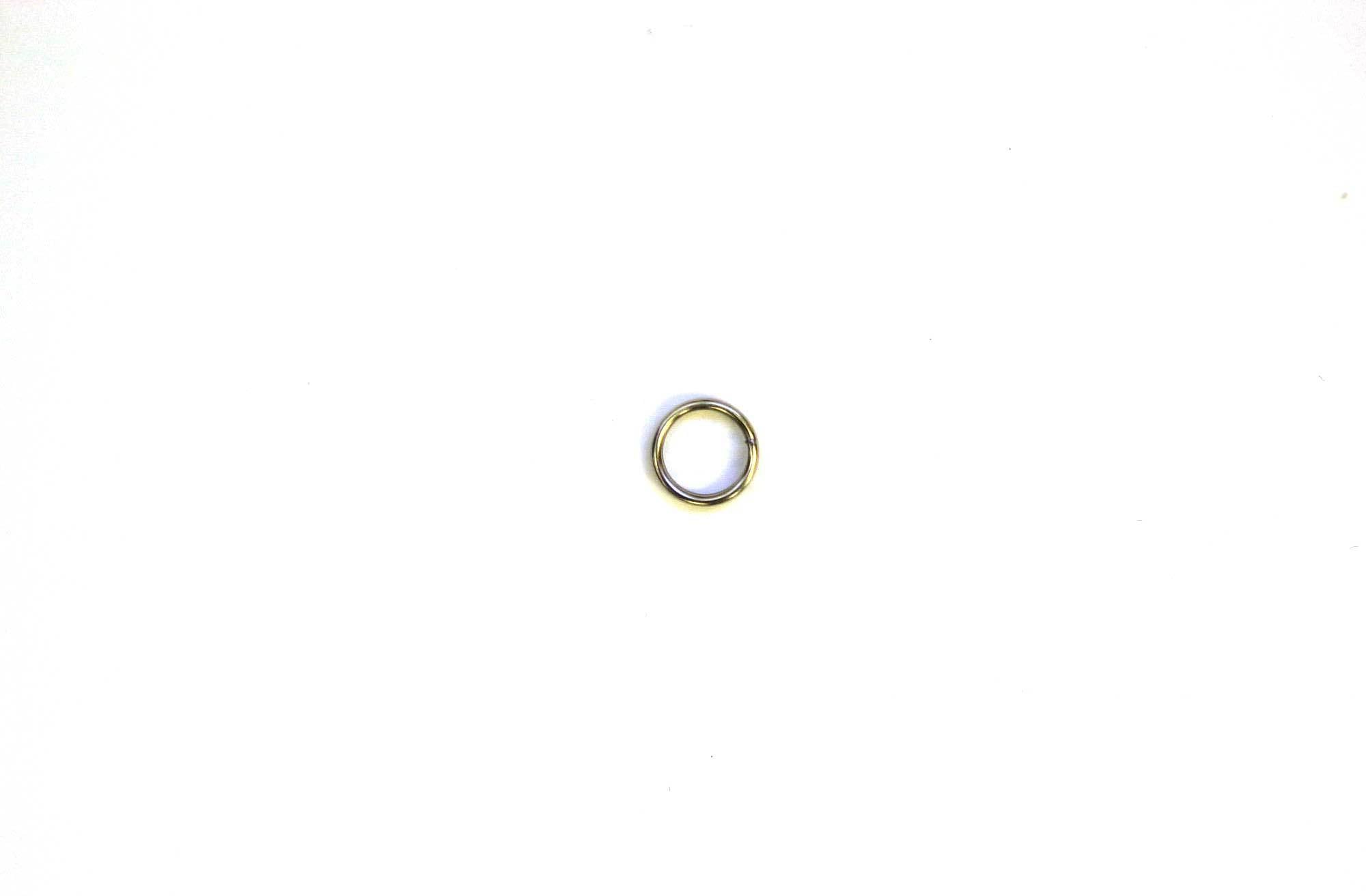 Eagle Claw Split Rings Nickle 8ct Size 4