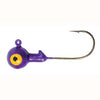 Luckie Strike Round Jig Head Painted 1-4 10ct Purple
