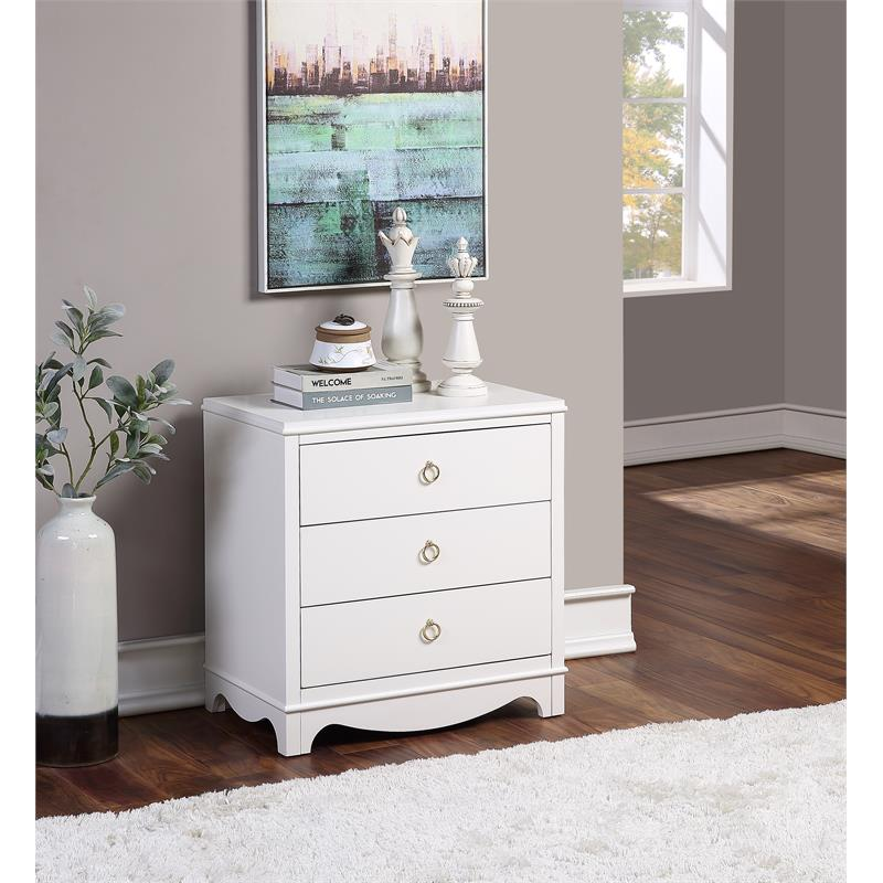 Laurel 3-Drawer Nightstand