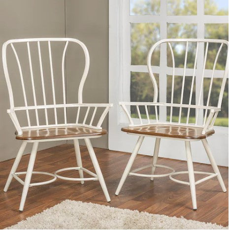 Baxton Studio Longford Arm Chair (Set of 2)