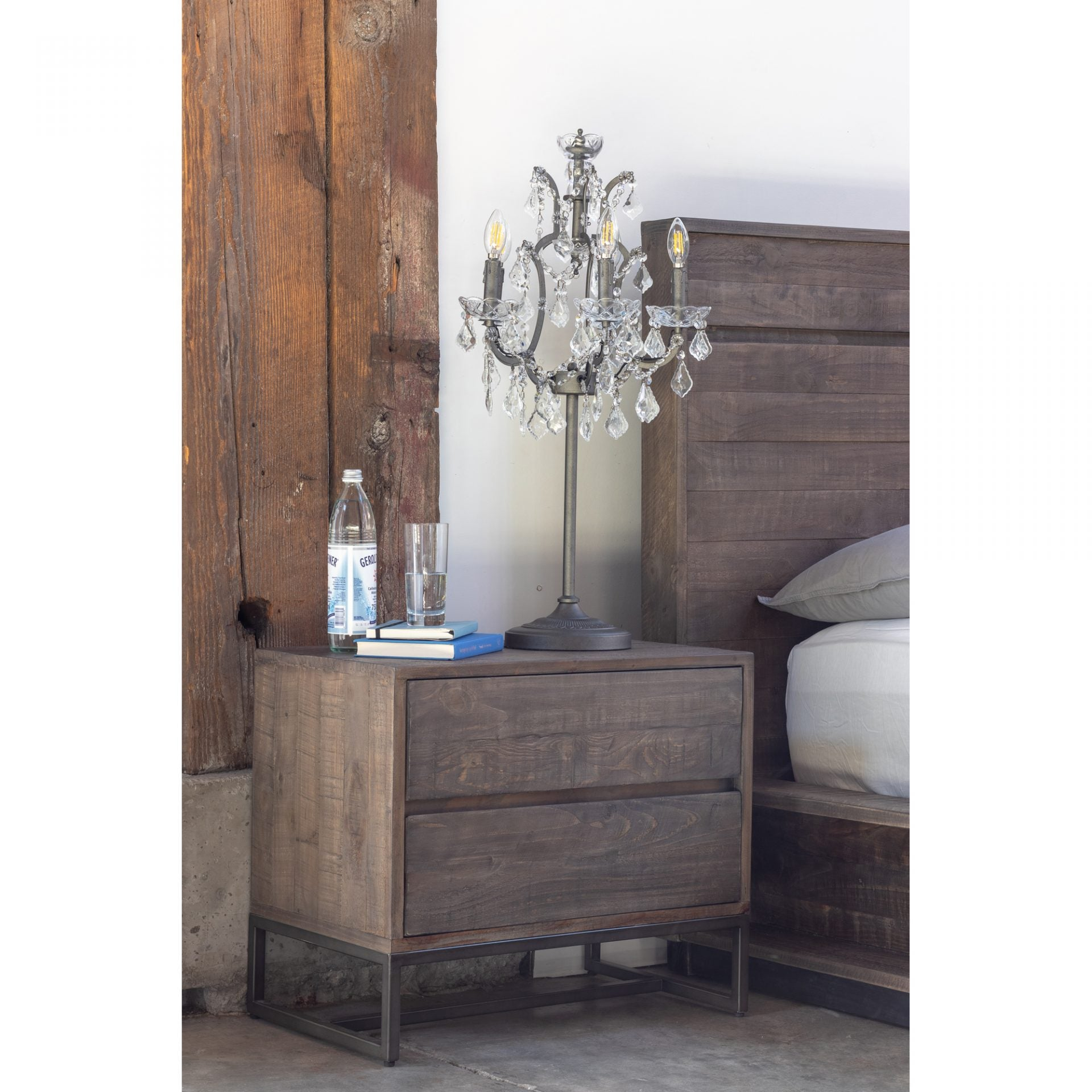 Elena 2-Drawer Nightstand