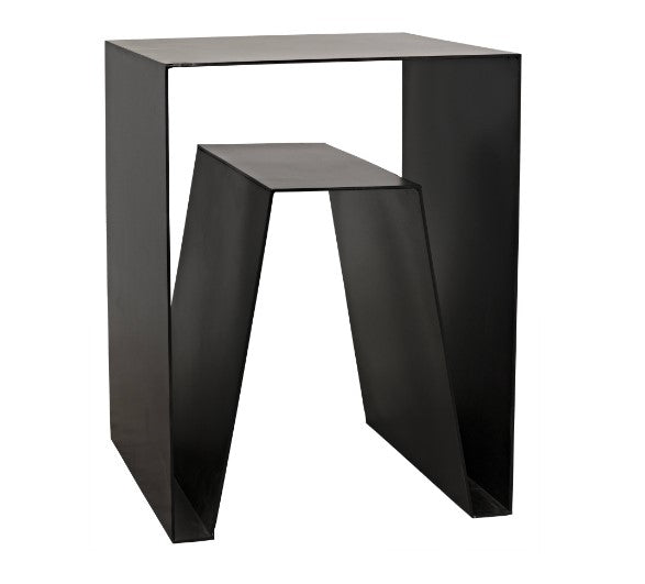 Noir Quintin Metal End Table