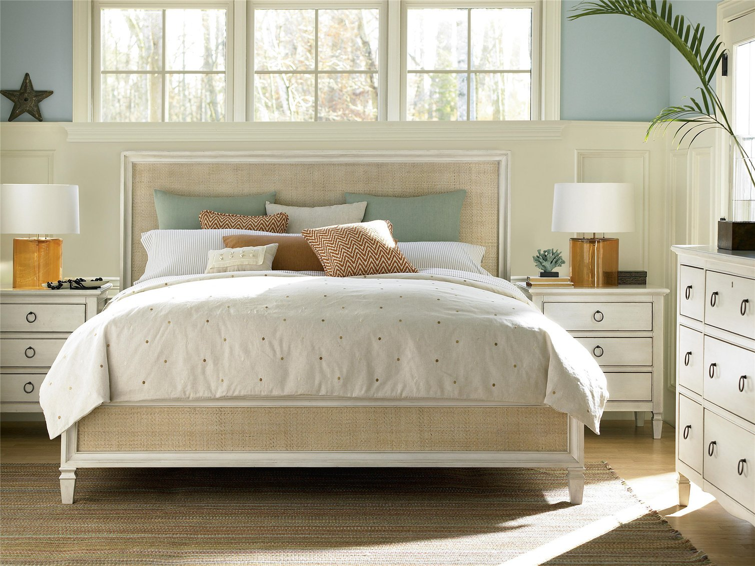 Summer Hill Cotton Woven Panel Bed