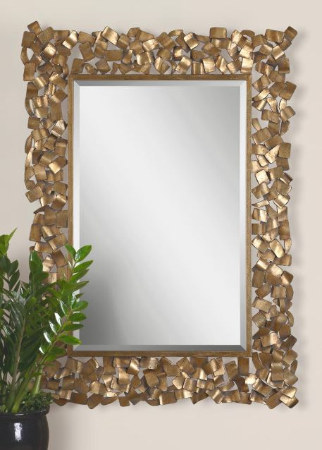 Capulin Gold Metal Mosaic Mirror