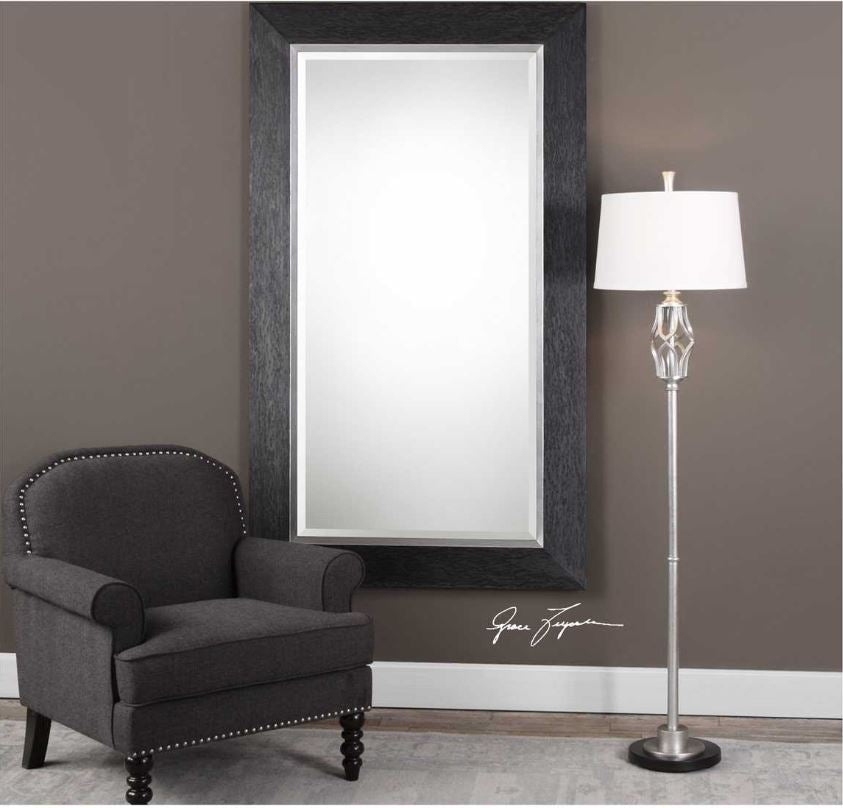 "Creston 41.5"" x 71.5"" Wood Floor Mirror"