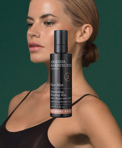 FACE TANNING - Lifestyle of Model with the Face Mist product