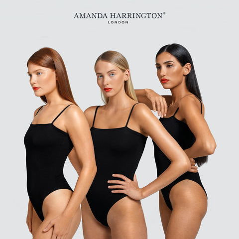 3 girls stood in line showcasing gradual tan