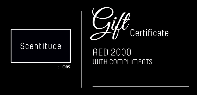 Gift voucher for Scentitude luxury perfume online store.