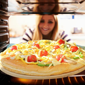 33CM Pizza Stone for Cooking Baking Grilling -33CM Extra Thick - Pizza Tools for Oven and BBQ Grill Bakeware Kitchen 40a