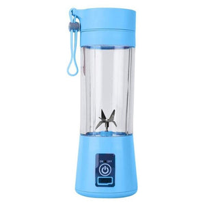 4 Colors  Fruit Juice Citrus Smoothie Squeezer 380ml USB Recharge 6 Blades Portable Blender Mixer Kitchen Accessories